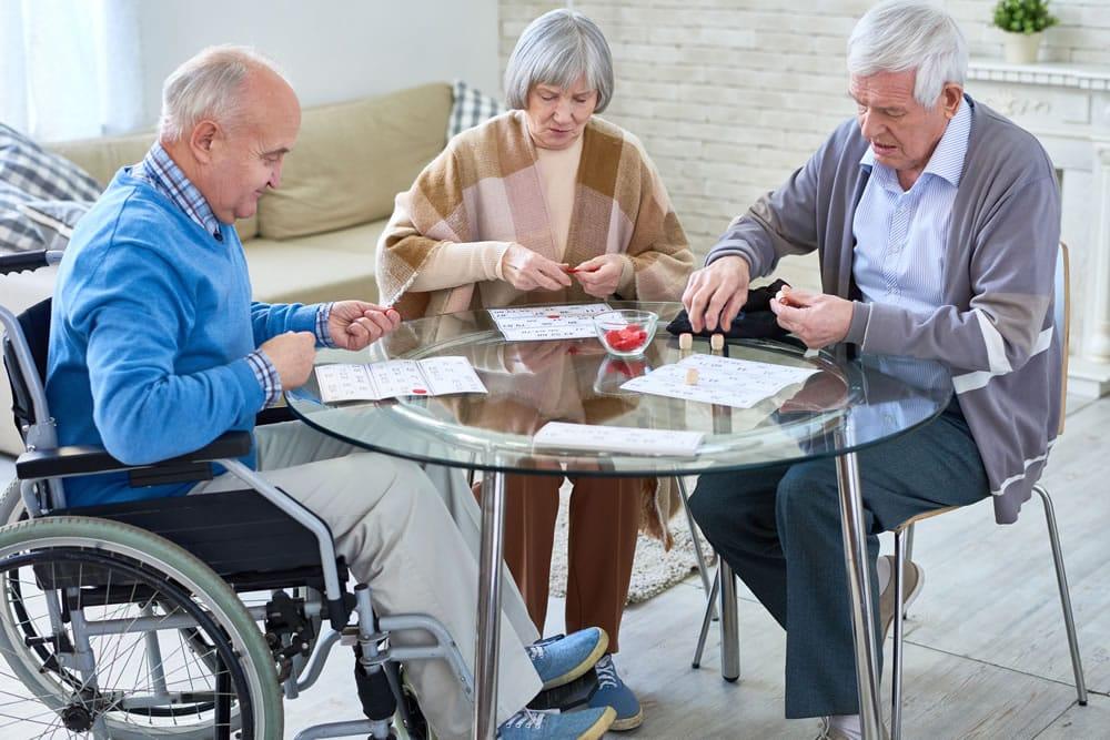 Senior Group at Table
